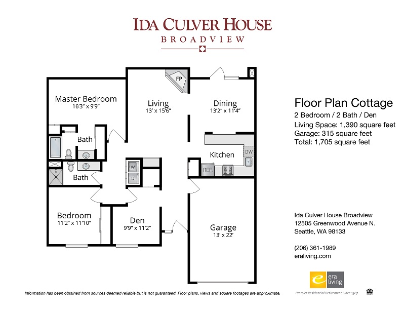 Floor Plans & Features - Ida Culver House Broadview, Seattle, WA ...