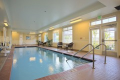 Photo: University House Issaquah senior living indoor swimming pool - Era Living